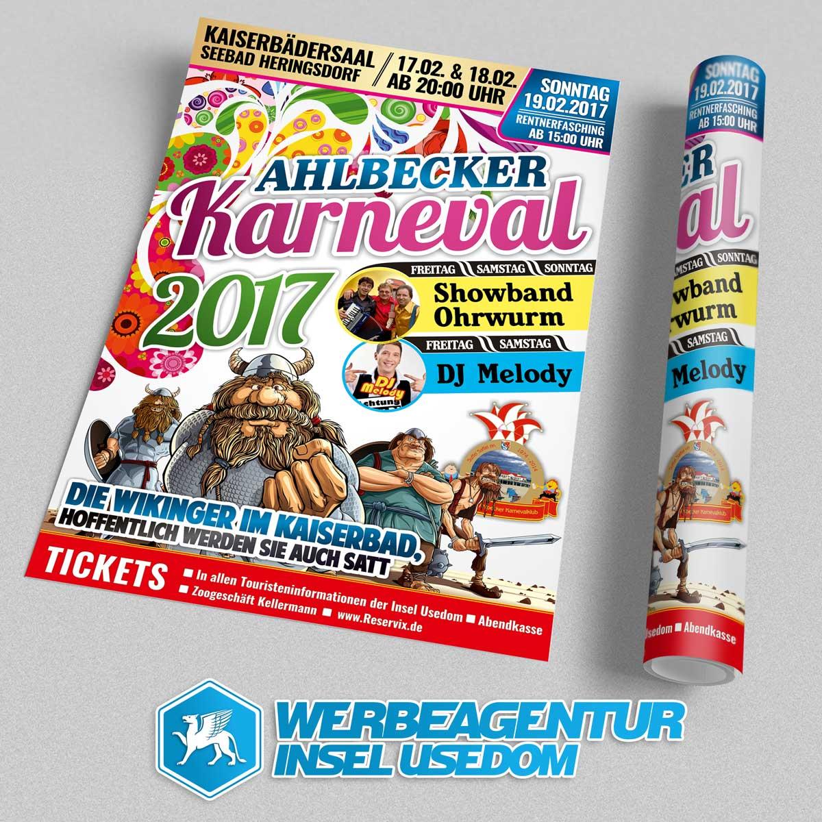 Plakat Ahlbecker Karneval 2017