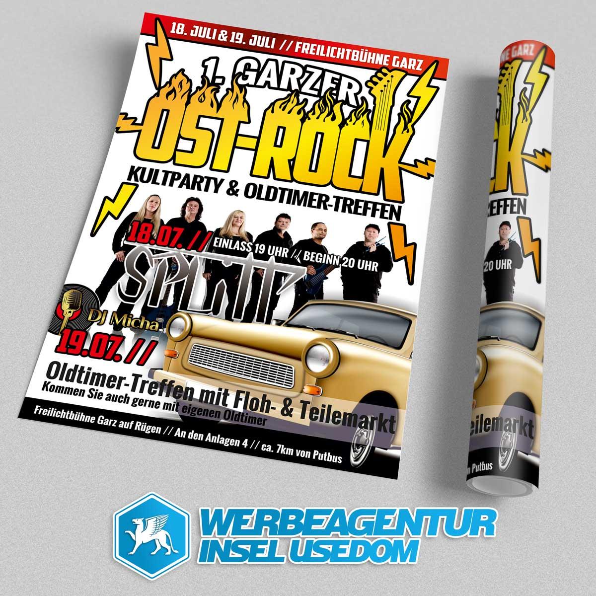 Plakat Ostrock-Kultparty Garz