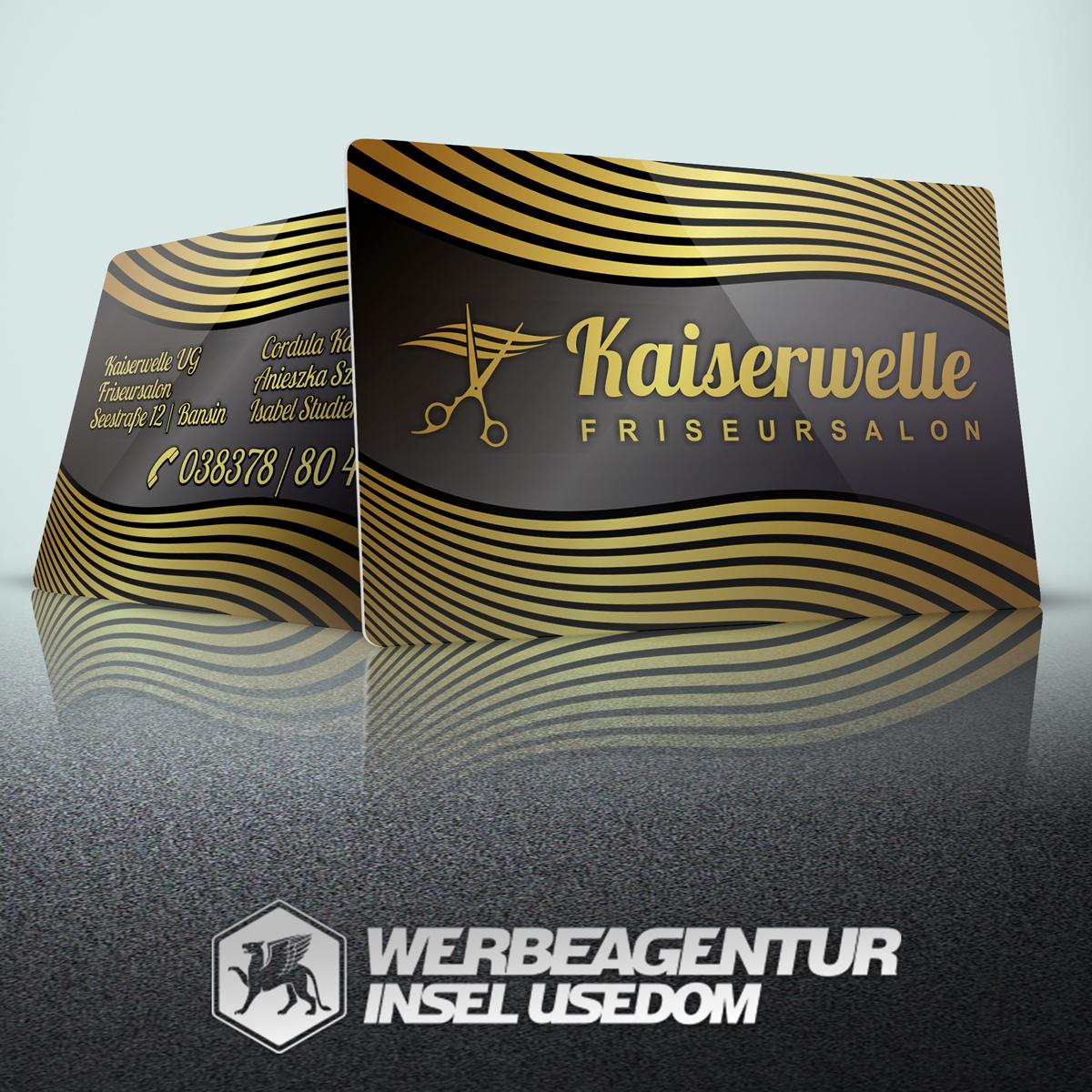 PVC-Visitenkarte Kaiserwelle