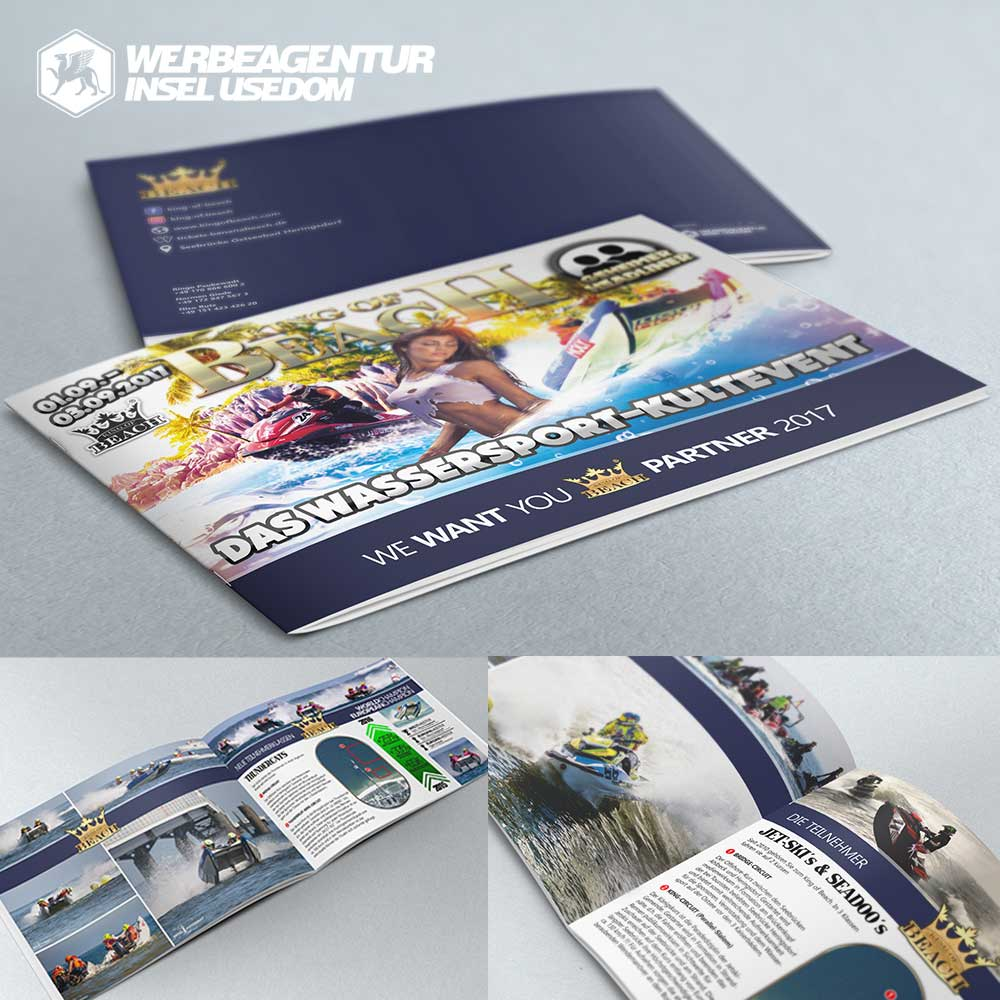 Promotion-Broschüre KING OF BEACH