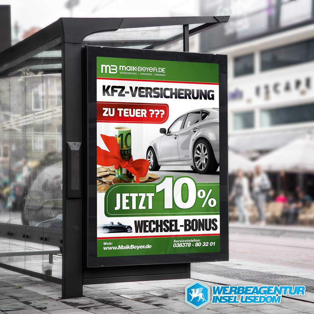 "KFZ-Plakat ""MaikBeyer.de"""