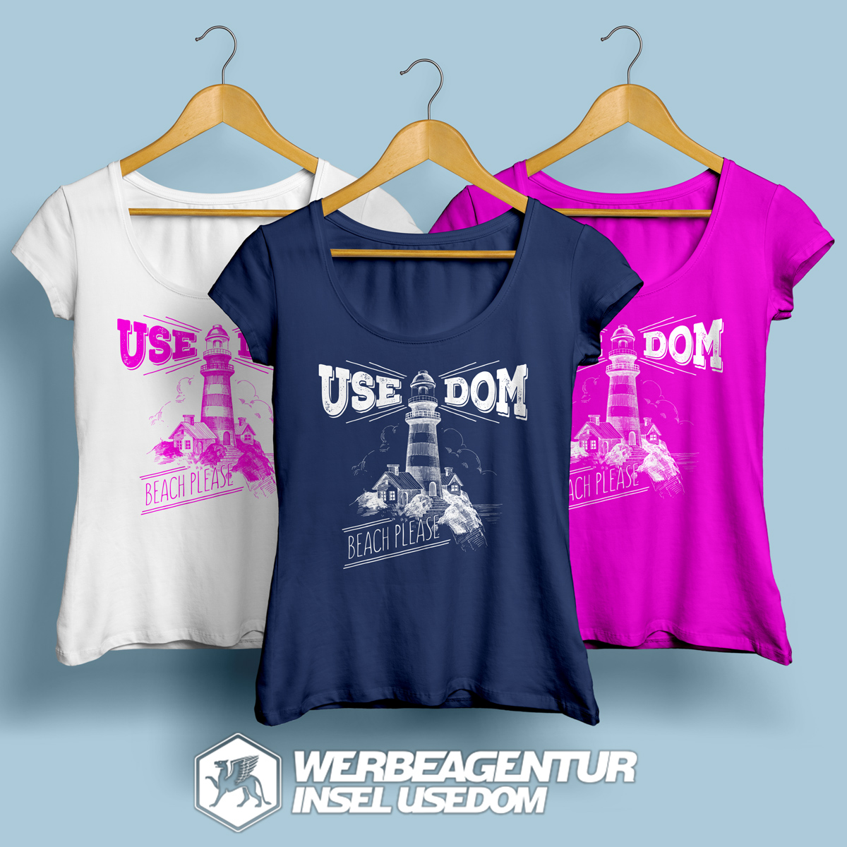 "T-Shirt ""Insel Usedom"""