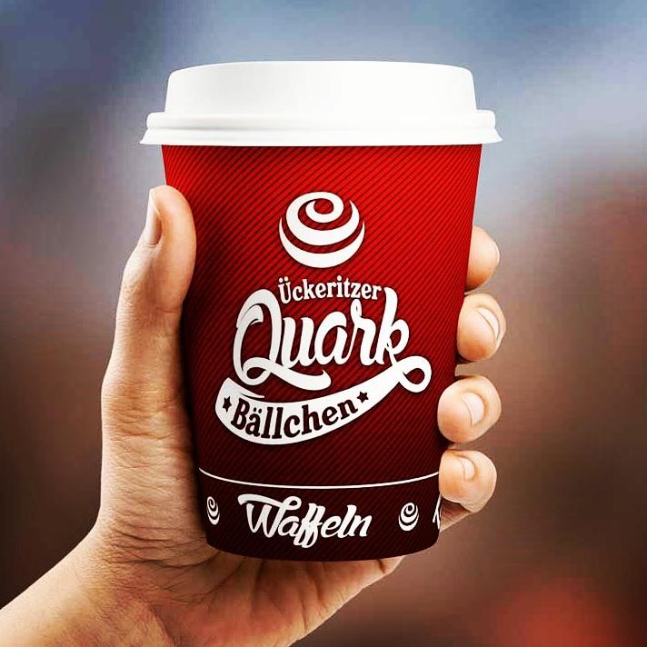 """Kaffeebcher to-go """"Ückeritzer Quarkbällchen"""""""